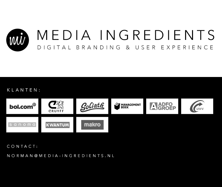Media Ingredients - Digital branding & User Experience
